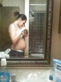Jeune noire enceinte