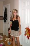 Ma copine en mini jupe