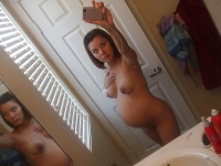 Self shot de teen pregnente