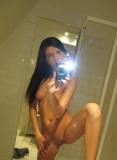 Magnifique fille mince nue