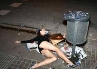 Une femme saoule est une femme déchet